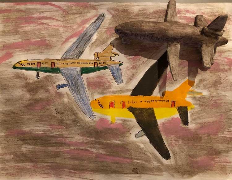 studio drawing Anne Verhoijsen vliegtuig