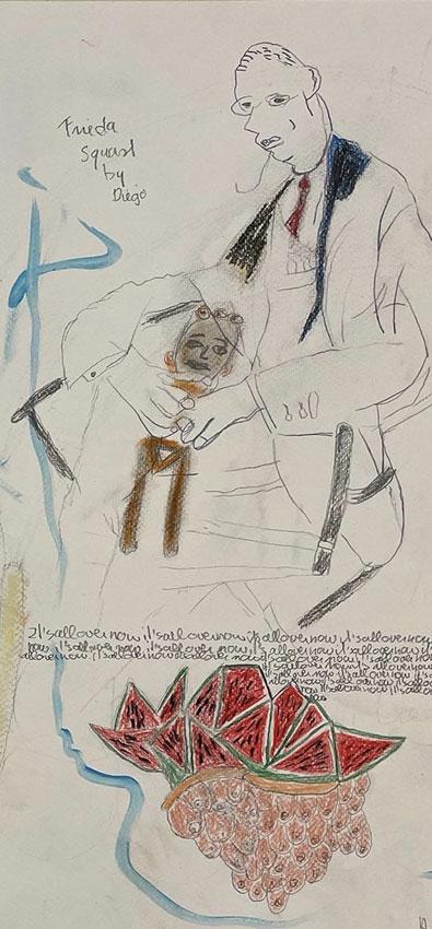Drawing by Anne Verhoijsen @ Cobra Museum